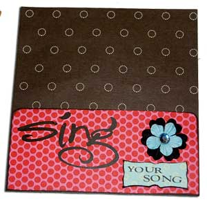 purse paper bag album - sing your song