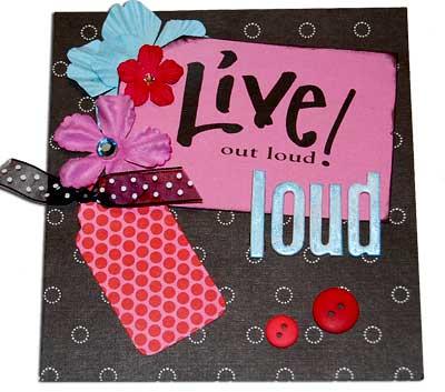 purse paper bag album - live out loud