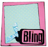 purse paper bag album - BLING