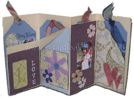 family accordion tag book