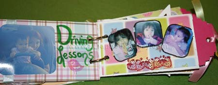 All about Exaiven Mini Scrapbook pages 3 and 4