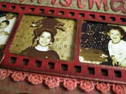 altered christmas photo strip
