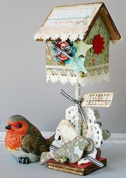 christmas altered birdhouse