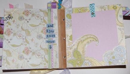baby shower paperbag album