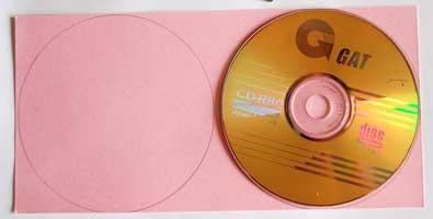 cd mini album - trace the cd shape onto paper