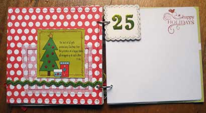 Christmas Memories Scrapbook inner pages