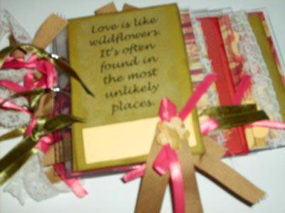 acrylic mini album - wildflowers