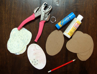easter egg mini book supplies