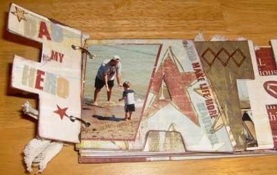 a scrapbook mini album for dad