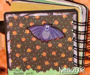 halloween scrapbook mini album back cover