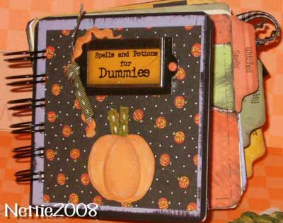 halloween scrapbook mini album cover