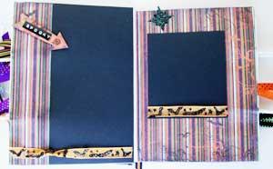 Halloween Shopping Bag Album - photo mats and journal spots