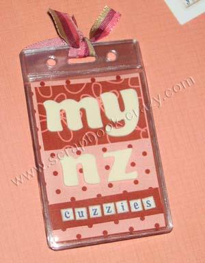 ID Badge Holder Mini Album