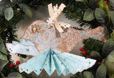kirigami christmas ornament
