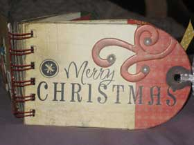 Xmas Bind It All Minibook
