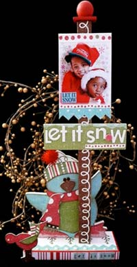 Christmas Scrapbook Photo Frame