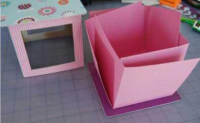 lantern mini scrapbook - folded