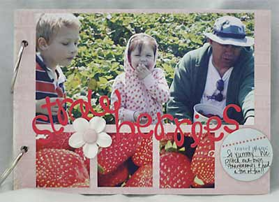 making memories scrapbook pages strawberries