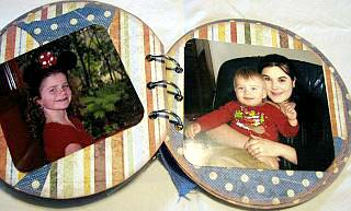 page 11 and 12 of mothers day scrapbook.