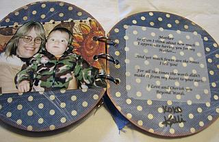 mom scrapbook with quote - the back page.