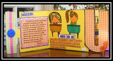 kids scrapbook mini album.