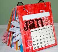 paper bag calendar - January