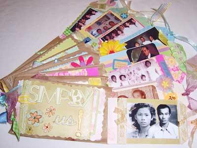 scrapbook paper bag album - 50 years of family