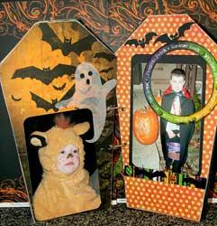 coffin shaped RIP Halloween Mini Album