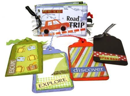 road trip mini scrapbook