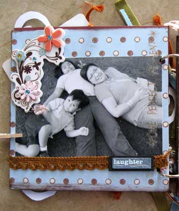 scrapbook photo album - laughter