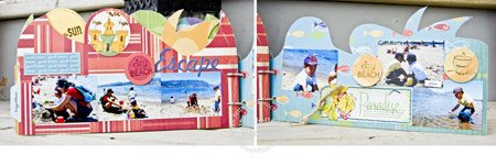 summer mini scrapbook album