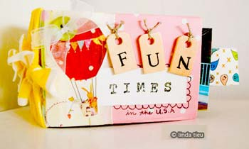 Tissue Paper Roll Mini book with Tags