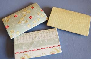 three covered roll pages